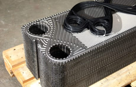 Plate and frame heat exchanger cleaning